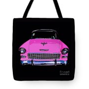 Purple Chevy Pop Art Tote Bag