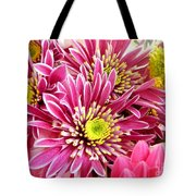 Purple Chrysanthemum Tote Bag