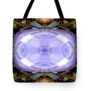 Purple Clam Shell Mandala Yantra Tote Bag by Marie Jamieson