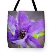 Purple Clematis Close Up Tote Bag
