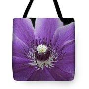 Purple Clematis Tote Bag