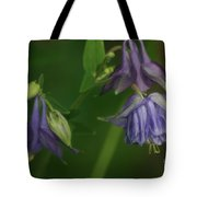 Purple Columbine Tote Bag