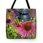 Purple Coneflowers By Former Railroad Depot In Pipestone-minnesota Tote Bag