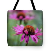 Purple Coneflowers In A Row Tote Bag