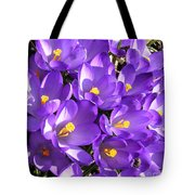 Purple Crocus Spring Welcome Tote Bag