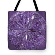 Purple Crystal Gem Tote Bag