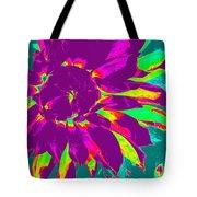 Purple Dahlia Pop Art Tote Bag