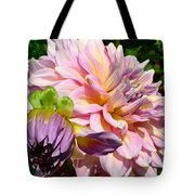 Purple Dahlia With Bud Tote Bag