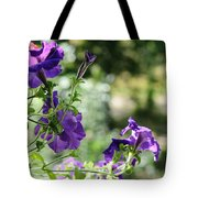 Purple Delight. Petunia Bloom Tote Bag