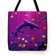 Purple Dolpins Tote Bag