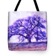 Purple Dreamtime Oak Tree Tote Bag