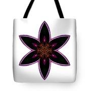 Purple Echinacea I Flower Mandala White Tote Bag