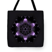 Purple Fantasy Flower Tote Bag