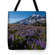 Purple Fields Forever And Ever Tote Bag
