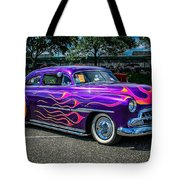Purple Flame Tote Bag