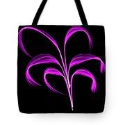 Purple Flaring Plant Tote Bag