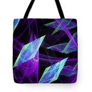 Purple Floating Diamonds Tote Bag