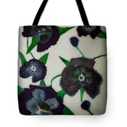Purple Floral Burst Tote Bag
