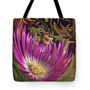 Purple Flower Abstract Tote Bag