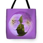 Purple Flower Orb Tote Bag
