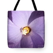 Purple Flower Square Tote Bag