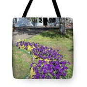 Purple Flowerbed Tote Bag