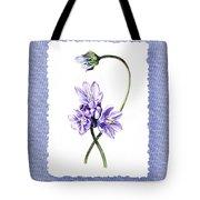 Purple Flowers Serenade Botanical Impressionism Tote Bag