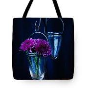 Purple Flowers Still Life Tote Bag