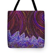 Purple Forest Moon Tote Bag