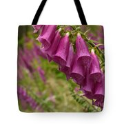 Purple Foxglove Tote Bag
