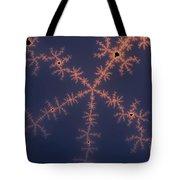 Purple Fractal Tote Bag