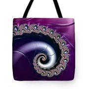 Purple Fractal Spiral For Home Or Office Decor Tote Bag