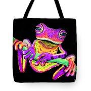Purple Frog On A Vine Tote Bag