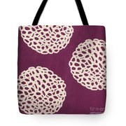 Purple Garden Bloom Tote Bag
