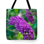 Butterfly Bush Garden Flower Tote Bag
