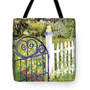 Purple Garden Gate Tote Bag