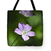 Purple Geranium Flowers Tote Bag