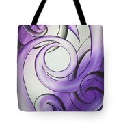 Purple Glass Koru Tote Bag