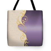 Purple Gold Chevron Tote Bag