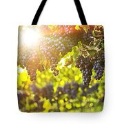 Purple Grapes In Sunshine Tote Bag