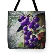 Purple Grapes - Oil Effect Tote Bag