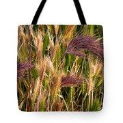 Purple Grasses Tote Bag