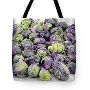 Purple Green Brussels Sprouts Tote Bag