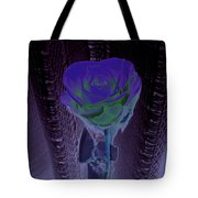 Purple Green Dark Rose Tote Bag