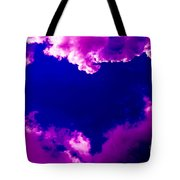 Purple Heart And Pink Clouds Tote Bag