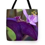 Purple Heart Flower Tote Bag