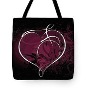 Purple Heart Of Passion Tote Bag