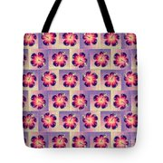 Purple Hibiscus Pattern Tote Bag