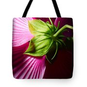 Purple Hibiscus Shot From Behind. Tote Bag
