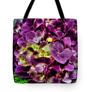 Purple Hortensia After Summer Rain Tote Bag